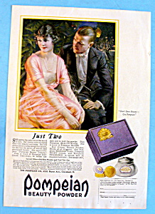 Vintage Ad: 1920 Pompeian Beauty Powder (Image1)