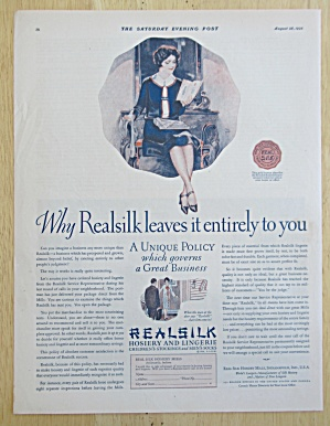 1926 Realsilk Hosiery & Lingerie with Woman Reading  (Image1)