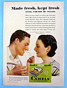 1932 Camel Cigarettes w/Man & Woman Talking & Smoking (Image1)