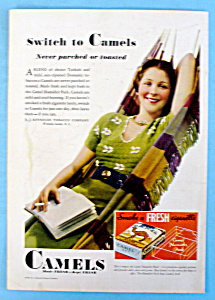 1932 Camel Cigarettes w/Woman Laying on Hammock (Image1)