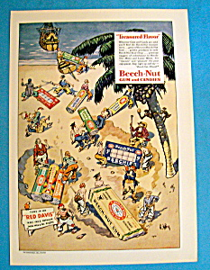 1935 Beech-nut Gum & Candies With Group Of Pirates