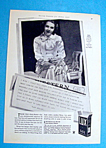Vintage Ad: 1935 Lux Soap With Ruby Keeler