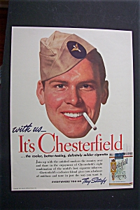 1941 Chesterfield Cigarettes with Soldier's Face  (Image1)