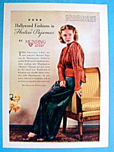 Vintage Ad: 1936 Munsingwear Pajamas With Alice Faye