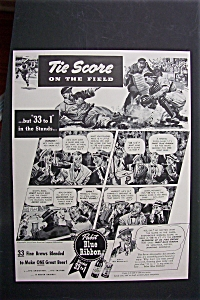 1941 Pabst Blue Ribbon Beer with Score on the Field  (Image1)