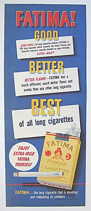 1950 Fatima Cigarettes with a Pack of Cigarettes (Image1)