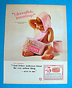 Vintage Ad: 1965 Delsey Toilet Tissue (Image1)