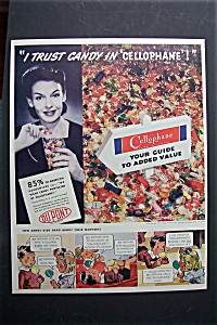 1941 Du Pont Cellophane with Woman Holding Candy (Image1)