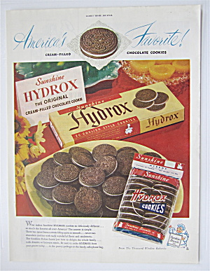 1948 Sunshine Hydrox Cookies With Cookies On Plate