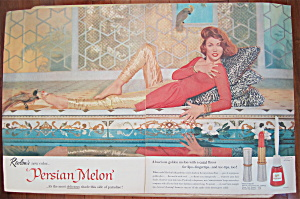 1957 Revlon Persian Melon with Lovely Red Haired Woman  (Image1)
