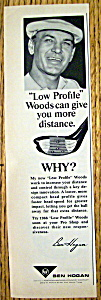 Vintage Ad: 1966 Low Profile Woods With Ben Hogan