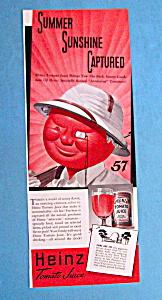Vintage Ad: 1939 Heinz Tomato Juice (Image1)