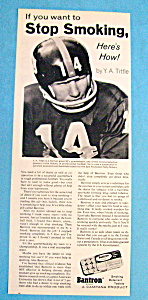 1967 Bantron Stop Smoking with Y. A. Tittle (Image1)