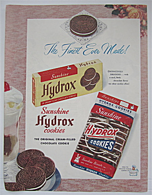1950 Sunshine Hydrox Cookies W/box & Package Of Cookies