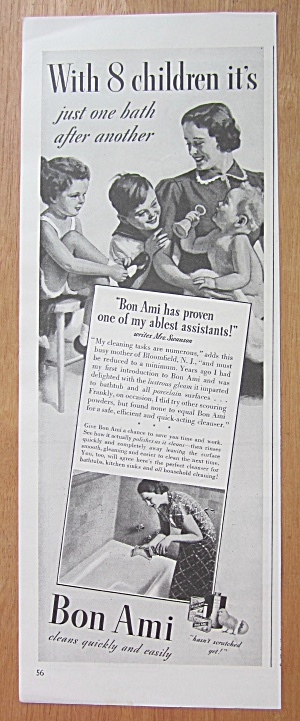1938 Bon Ami with Woman & Her Children (Image1)