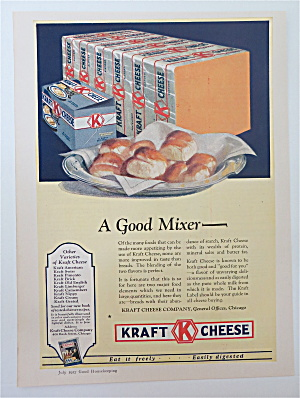 1927 Kraft Cheese With Block Of Cheese With Buns