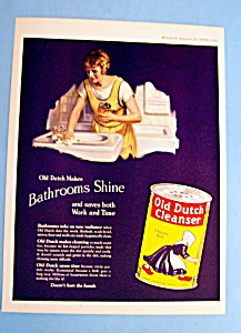 Vintage Ad: 1924 Old Dutch Cleanser (Image1)