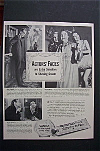 Vintage Ad: 1941 Williams Shaving Cream W/karloff