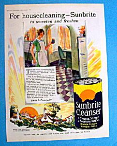 Vintage Ad: 1928 Sunbrite Cleanser (Image1)