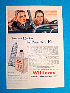 Vintage Ad: 1931 Williams Aqua Velva Shaving Cream (Image1)