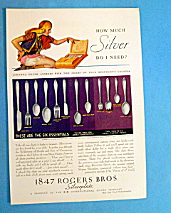 1931 1847 Rogers Bros. Silverplate w/Woman & Silverware (Image1)