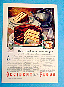 Vintage Ad: 1932 Occident Flour