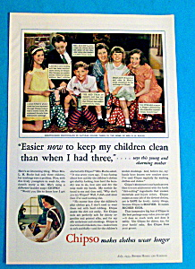 Vintage Ad: 1933 Chipso Soap (Image1)