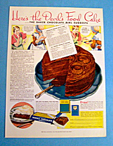 Vintage Ad: 1933 Baker's Chocolate (Image1)