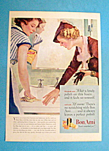 1935 Bon Ami W/1 Woman Cleaning While Woman Watches