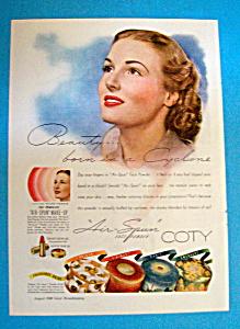 Vintage Ad: 1940 Coty Air Spun Face Powder (Image1)