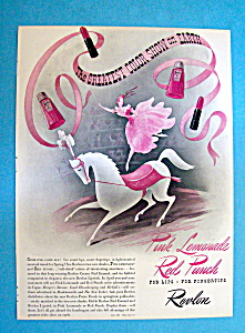 Vintage Ad: 1940 Revlon Pink Lemonade & Red Punch (Image1)
