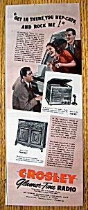 Vintage Ad: 1940 Crosley Glamor-Tone Radio (Image1)