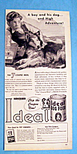 Vintage Ad: 1947 Ideal Dog Food (Image1)