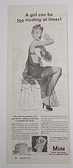 1945 Mum Deodorant with Girl Powdering Under Her Arm (Image1)