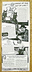 Vintage Ad: 1941 Post 40% Bran Flakes w/ Estelle Butler (Image1)