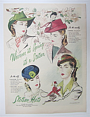 1945 Stetson Hats For Women with Wherever It's Spring  (Image1)