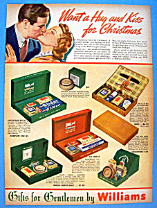 Vintage Ad: 1937 Williams Shaving Holiday Packages (Image1)