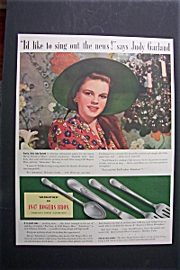 Vintage Ad: 1941 1847 Rogers Bros. With Judy Garland