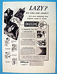 1937 Williams Oil O Matic Heating with Man In Recliner (Image1)