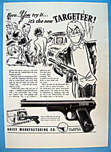 1937 Targeteer Air Pistol With Man Smiling