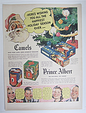 1937 Camel Cigarettes & Prince Albert with Santa Claus  (Image1)
