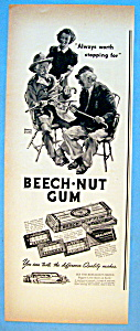 1937 Beech Nut Gum With Two Men & A Girl