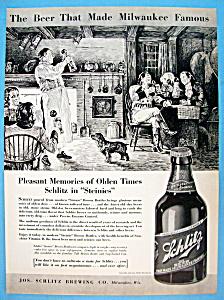 Vintage Ad: 1937 Schlitz Beer (Image1)