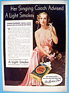 Vintage Ad: 1937 Lucky Strike W/carole Lombard