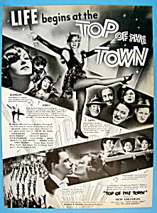 Vintage Ad: 1937 Top Of The Town
