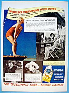 Vintage Ad: 1937 Camel Cigarettes w/Dorothy Hill (Image1)