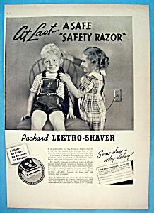 Vintage Ad: 1937 Packard Lektro Shaver (Image1)