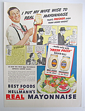 1937 Hellmann's Real Mayonnaise With Wife Wise
