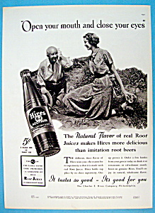 1937 Hires Root Beer With Man Digging & Woman Watches