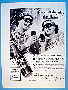 1937 Hires Root Beer With Man & Woman At A Party